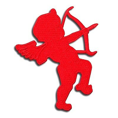 Red Cupid Angel God of Love Cute Embroidered Iron On Patch Applique Valentine