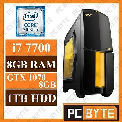 Intel 4-Core i7 7700 4.2GHz 8GB 1TB GTX 1070 8GB Gaming Computer Desktop System