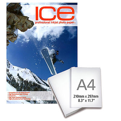 Ice Professional Inkjet Photo Paper Glossy 130Gsm / A4 / 50 Sheets