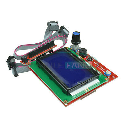 12864 LCD Display 3D Printer Controller + Adapter For RAMPS 1.4 Reprap Mendel M