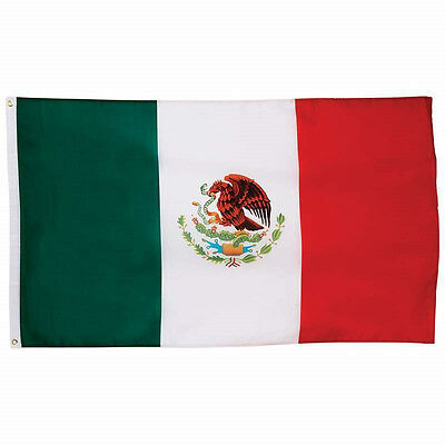 New 3'x5' ft  Mexico Flag Polyester the Mexico  National Banner  Brass Grommets