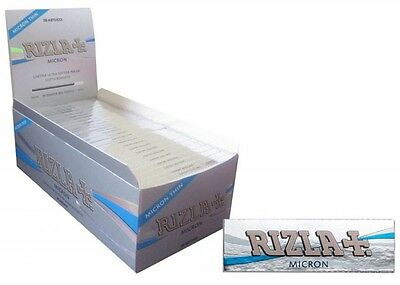 Full Box (50) Of Rizla Micron Rolling Paper Single Size