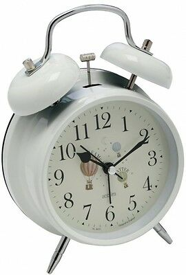 Acctim Redcliffe Hot Air Balloon Twin Bell Vintage Style Alarm Clock New