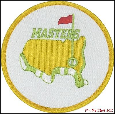 Augusta Golf Masters White/gold Patch High Quality Iron/sew On Free Shipping ~
