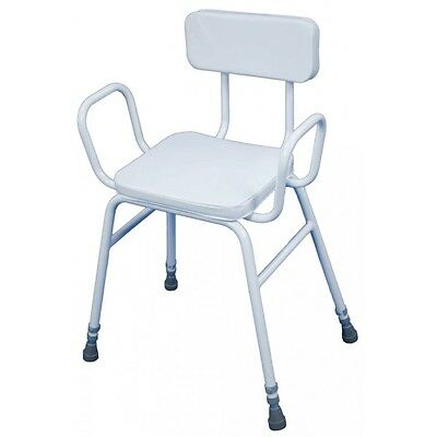 Aidapt Malling Height Adjustable Perching Stool Padded Seat Mobility Aid