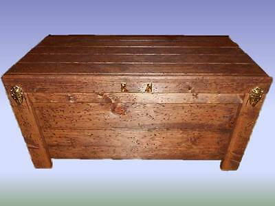 Wood Hope Chest Coffee Table Blanket Storage Hidden Compartment Knotty Pine