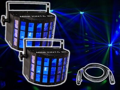 2 x Chauvet Mini Kinta IRC High Power 3W LED Output Light DJ Disco Effect