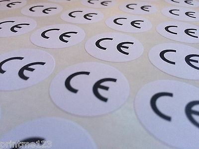 CE Logo Labels, Round Circular Permanent Self-Adhesive Stickers