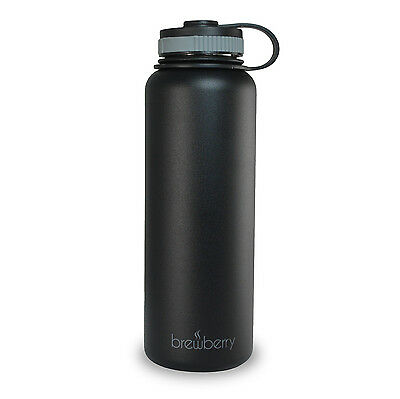 Brewberry Insulated Stainless Steel Sports Water Bottle, 40 oz.