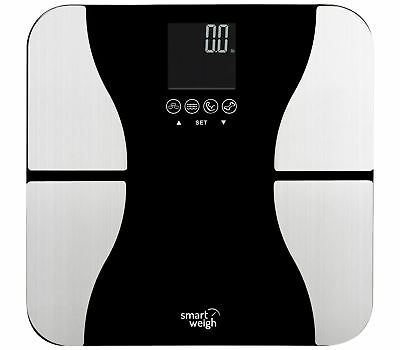 Smart Weigh Body Fat Precision Digital Bathroom Scale w/ Tempered Glass Platform