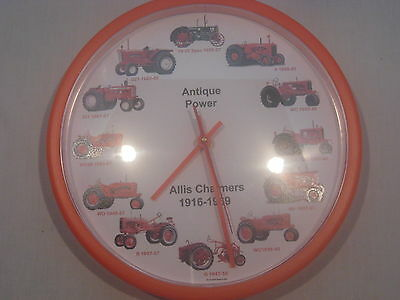 "Allis Chalmers 10"" Wheel Dial Clock"