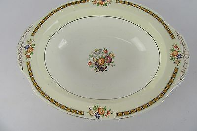 Vintage W.H. Grindley & CO LTD Made in England Oval Ornate Serving Dish