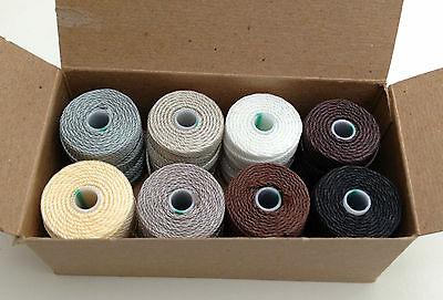 C-Lon Heavy Weight Bead Cord 0.9mm Selection Gift Box - NEUTRALS jewellery