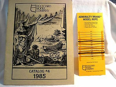 1985 Dockyard Model Co Catalog Ships Tools & Fittings Incl Card W/Admiralty Rope