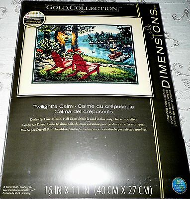 """Dimensions Counted Cross Stitch Kit Gold Collection TWILIGHT'S CALM 16"""" X 11"""""""