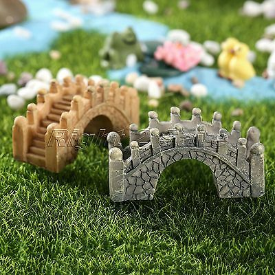 1pc Resin Micro Landscape Small Bridge Ornament Bonsai Gardening Miniature Craft