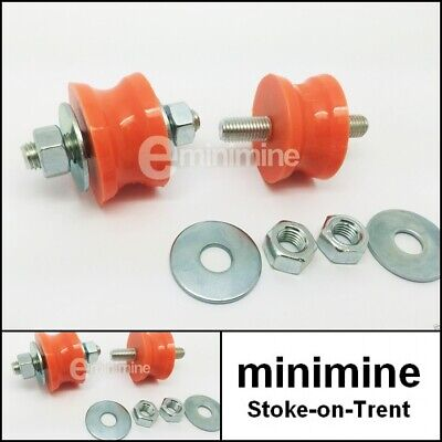 Classic Mini Polyflex Exhaust Bobbin ORANGE PAIR GEX7251 mount cotton reel MG