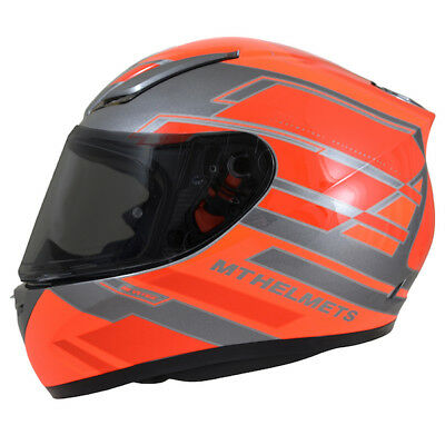 MT Revenge ZUSA - Full Face Motorcycle Everyday Helmet - Gloss Fluo Orange/Red