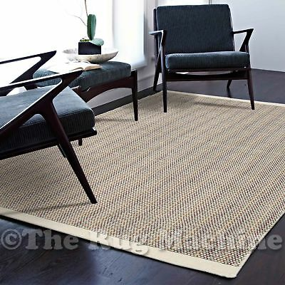 MALMO COLOURFUL & CREAM HANDKNOTTED NATURAL WOOL MODERN FLOOR RUG 155x225cm *NEW