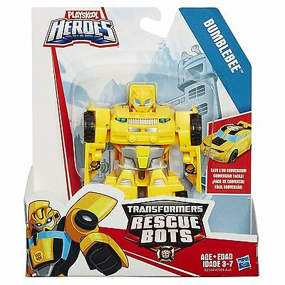 Bumblebee Yellow Sportcar Playskool Heroes Transformers Rescue Bots Movie Rescan