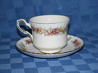 Royal Stafford Bone China, Tea Cup and Saucer Duo. Love Story.