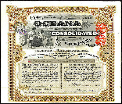 South Africa; Oceana Consolidated Co. Ltd., 25 shares of 5/-, 1928, Waterlow