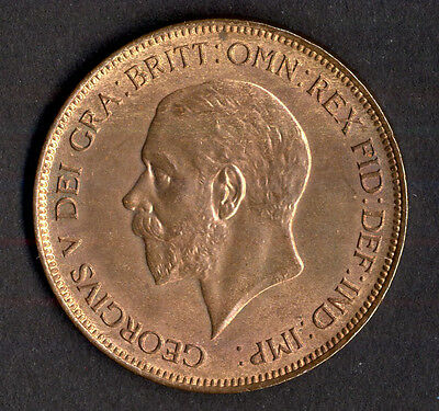 George V, penny, 1931, good EF with some lustre