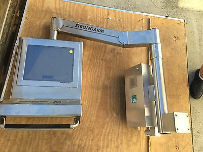 """New Stainless 19"""" Strongarm HMI Z Purged with Keyboard and Touch Pad"""