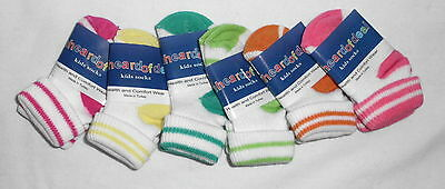 Unheardofdeal Infant Cotton Striped Triple Cuff Socks K010