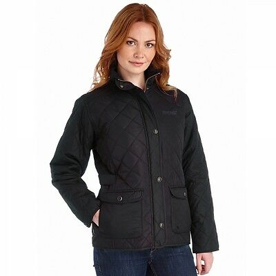 Regatta Womens Ladies Missy II Country Padded Quilted Jacket in Black