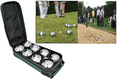 New Steel French Boules 8 Petanque Ball Set Outdoor Carry Case Garden Game