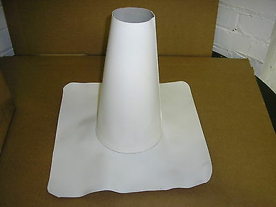 "GenFlex 3"" TO 6"" WHITE RM PVC REINFORCED ROOFING ROOF PIPEBOOT GenCorp PIPE BOOT"