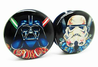 Star Wars Darth Vader & Storm Trooper Screw-On Ear Plugs - 10 Sizes Pair - New