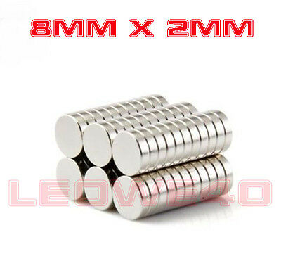 Strong Round Magnet 8mm x 2mm Rare Earth Neodymium No. 761