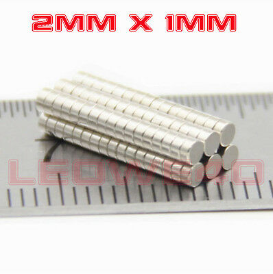 Tiny Round Magnet 2mm x 1mm Rare Earth Neodymium No. 765