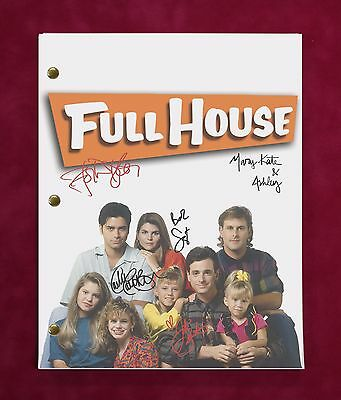 """Full House Tv Script W/ Reproduction Signatures Saget, Stamos, Coulier """"c3"""""""