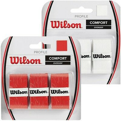 Wilson Profile Overgrip White (Over Grip) For Tennis & Padel Or Squash