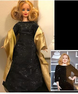 Sale! OOAK Barbie Doll Custom Adele British Singer Handmade Collectors Celebrity