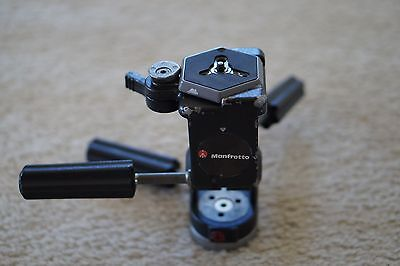 Manfrotto 029 3-Way Tripod Head with Quick Release Plate