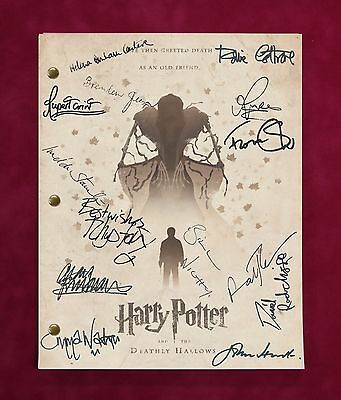 """Harry Potter And The Deathly Hallows Script With Reproduction Signatures """"c3"""""""