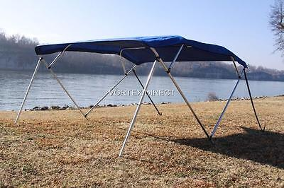 New Vortex 4 Bow Pontoon/deck Boat Bimini Top 12' Royal Blue 91-96""