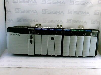 Allen-Bradley 1756-PA72/C Power Supply w/ 1756-A10/B 10 Slot Rack w/Modules