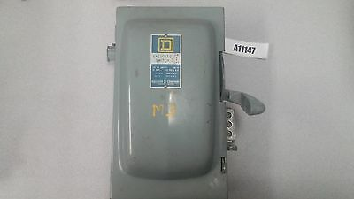Square D Heavy Duty Industrial Enclosed Switch ON-OFF A85341 Ser. T2 30A 600VAC