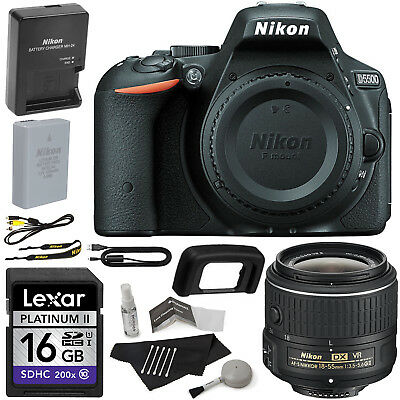 Nikon D5500 24.2MP Digital SLR Camera Kit with VR II 18-55mm Lens + 16GB Memory