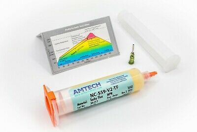 AMTECH NC-559-V2-TF No-Clean Tacky Solder Flux (ROL0) 30cc Kit USA