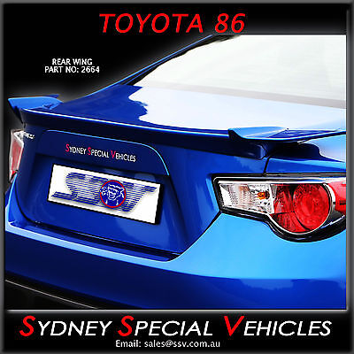 Rear Wing Boot Spoiler For Toyota 86 - Supplied Painted -  New - Abs Plastic