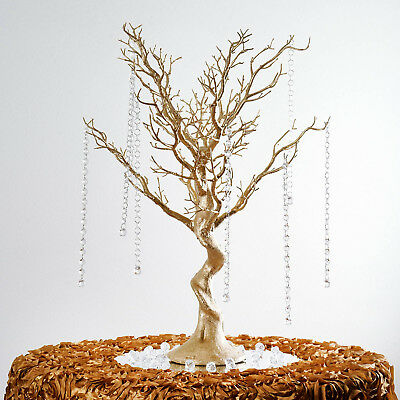 30 Glittered Manzanita Tree With Garlands For Wedding Diy Catering