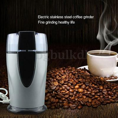 Electric Coffee Bean Grinder Mill Latte Nut Spice Herbs Grinding Stainless Steel