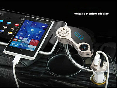 Dual USB Car Charger AUX In FM Transmitter MP3 Music Player For iPhone 5 6 7 USA