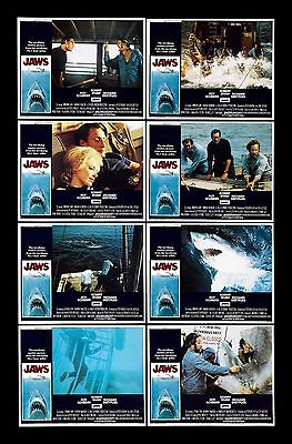 JAWS * CineMasterpieces ORIGINAL MOVIE POSTER LOBBY CARD SET 1975 NM-M C9-C10